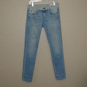 Sz 26 Rag & Bone Blue Rev Armitge Dre Skinny Jeans